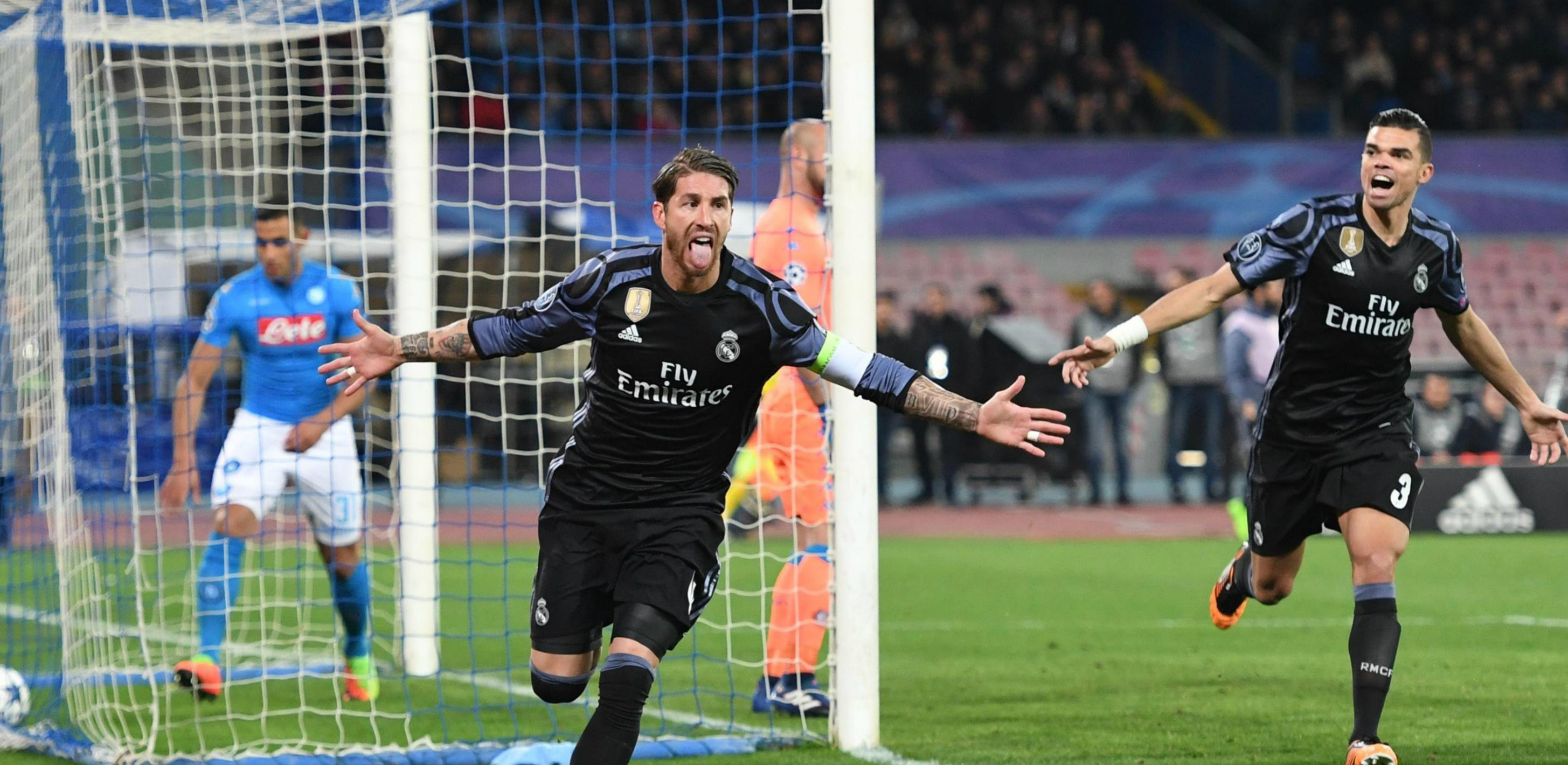 Sergio Ramos Real Madrid Napoli