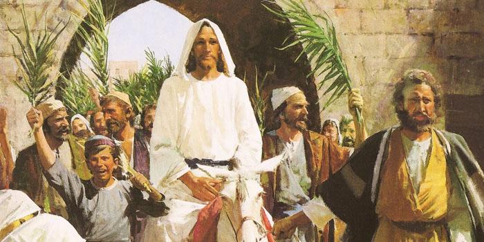 Resultado de imagen para domingo de ramos entrada triunfal de jesus a jerusalen juan pablo ll