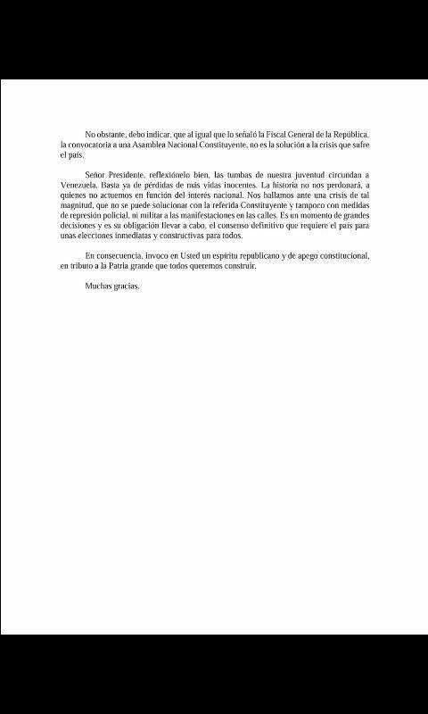 Carta a Maduro 1