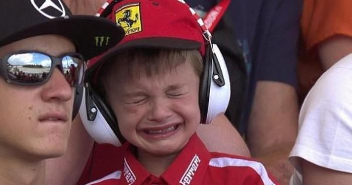 niño que lloró por kimi raikkonen