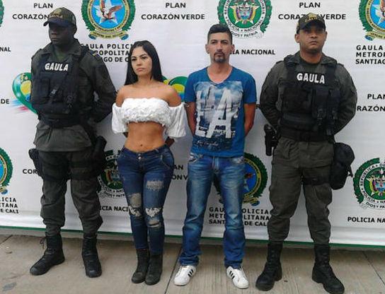 detienen modelo presentador colombiana
