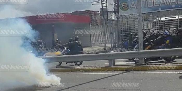 protesta represion caracas