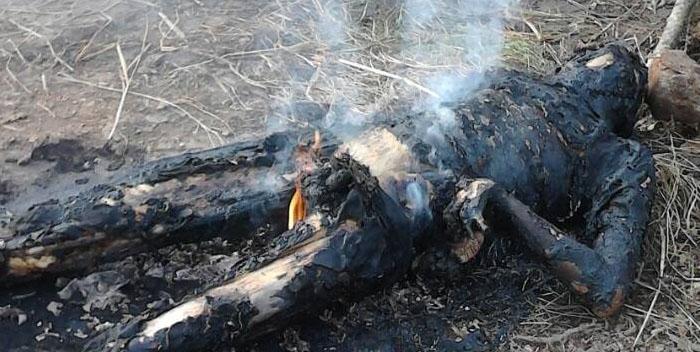 Image result for cadaver quemado
