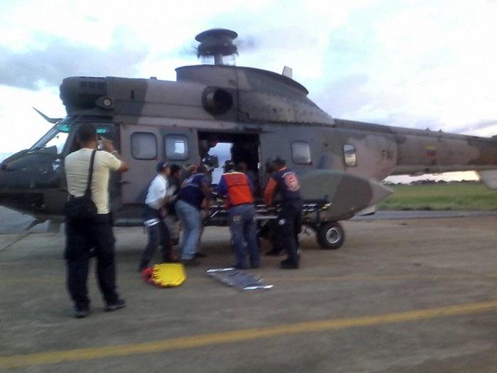 helicoptero de rescate estado bolivar