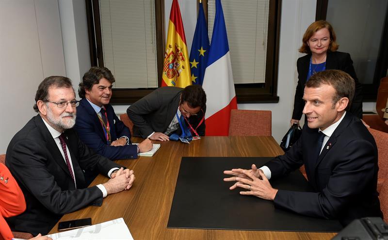 Macron y Rajoy