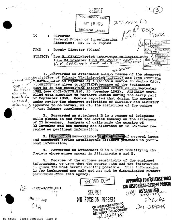 Desclasificados archivos relacionados con el asesinato John F. Kennedy