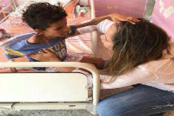 Niño desnutrido en Hospital Guanare - desnutrición
