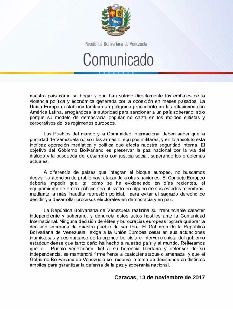 comunicado venezuela a la UE2